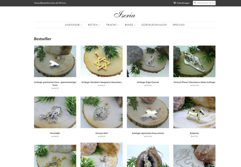 Iseria Online Shop